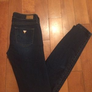 Guess skinny blue denim jeans size 24